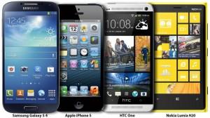 Samsung Galaxy S 4 vs. iPhone 5 vs. HTC One vs. Nokia Lumia 920