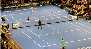 Rafael Nadal, Juan Martin, Ben Stiller & a 9 year old girl