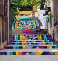 Rainbow street in Beirut Lebanon